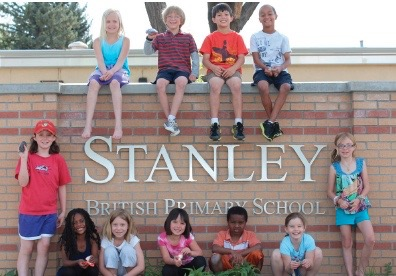 Kids on our Stanley sign!