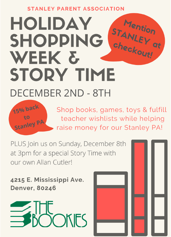 Bookies Holiday Shopping Week & Storytime